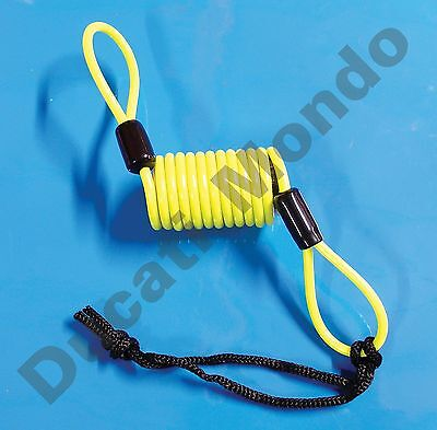 Mammoth security brake disc lock reminder cable high vis coil motorcycle scooter