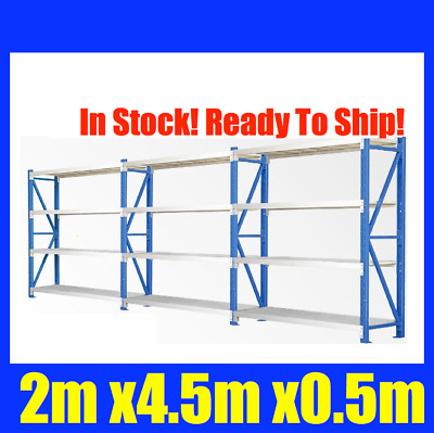 NEW 2m X 4.5m Steel Metal GARAGE STORAGE WAREHOUSE SHELVING RACKING Shelves