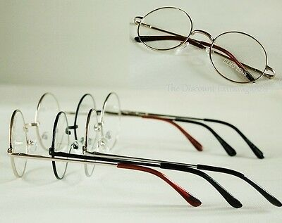 Round Eye Hippie Wire Rim Style Clear Lens Metal Glasses _see measurements