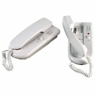 2 Way Intercom Telephone System White 6v DC or Battery Operation Office Flat