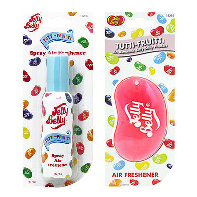 Jelly Belly Bean Sweet 3D Hanging Spray Set Car Scent Air Freshener Tutti Fruity