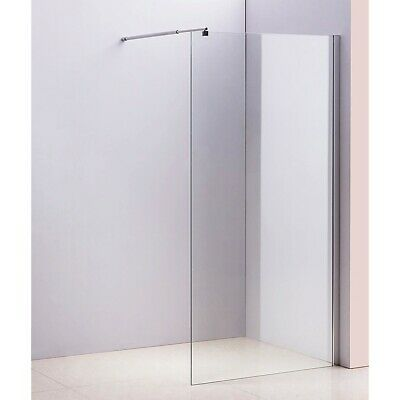 Shower Screen - Single Panel 10x1000x2000mm Clear Toughened Safety Glass
