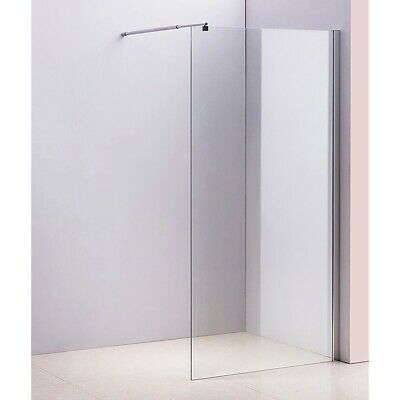 Shower Screen - Single Panel 10x1200x2000mm Clear Toughened Safety Glass