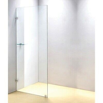 Shower Screen - Single Panel 10x700x2000mm Clear Toughened Safety Glass