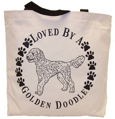 Loved By A Golden Doodle Tote Bag New  MADE IN USA