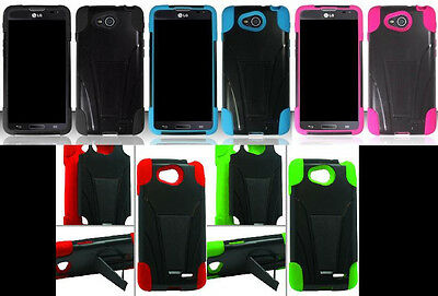 LG Optimus L90 / D415 (T-Mobile) Faceplate Phone Cover HYBRID T-STAND Case