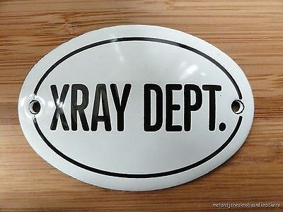 Small Antique Style Enamel Xray Dept Door Sign Wall Plaque