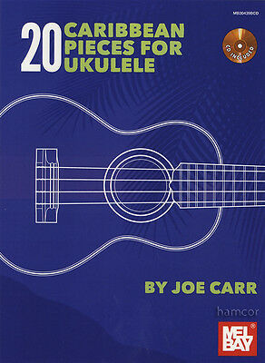 20 Caribbean Pieces for Ukulele TAB Music Book & CD