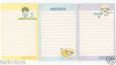 CHI 80s Fancy World Japan lot 3 paper sheets - lotto 3 foglietti da notes