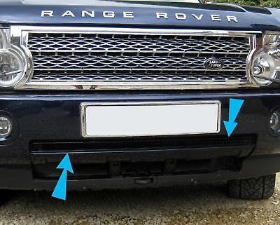 Black lower mesh protection grille for Range Rover L322 front bumper 2002-2005