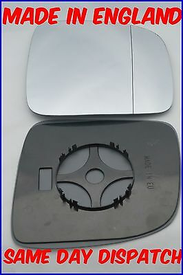 Vw Mk5 Transporter Caravelle 2003-09 Wing Mirror Glass Wide Angle Clip On Right