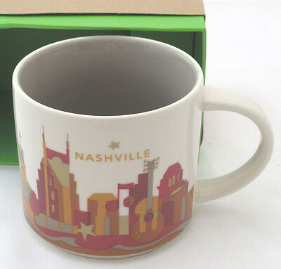 Starbucks Nashville You Are Here Collection Coffee Mug 16 Ounce New In Box