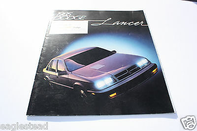 Auto Brochure - Dodge - Lancer - 1985 (AB311) - OS