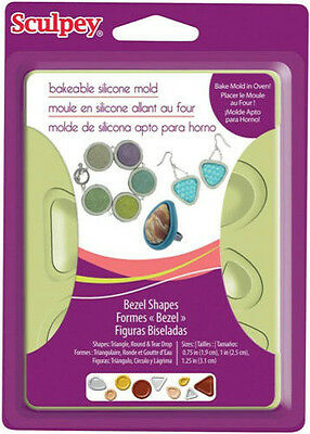 CLAY MOLD Jewelry Shapes BEZEL Sculpey Bakable