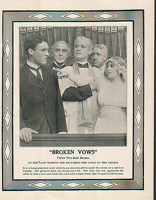 Irene Wallace Frank Holland 1914 Ad- Broken Vows/Victor