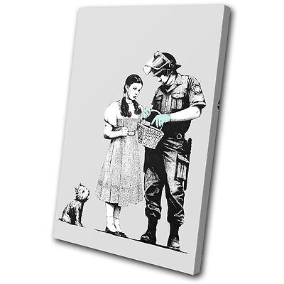 Banksy Painting Stop Search SINGLE CANVAS WALL ART Picture Print VA