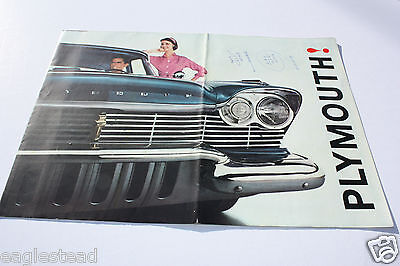 Auto Brochure - Plymouth - Product Line Overview - 1960 - Foldout (AB322)