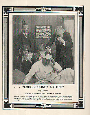 Lodge-Looney Luther 1914 Ad- an Imp comedy/Universal pictures