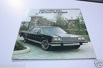 Auto Brochure - Ford - LTD Crown Victoria - 1986 (AB342) - OS