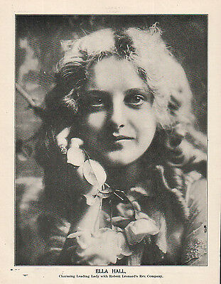 Ella Hall 1914 Ad- charming leading lady with the Rex Company/Robert Leonard