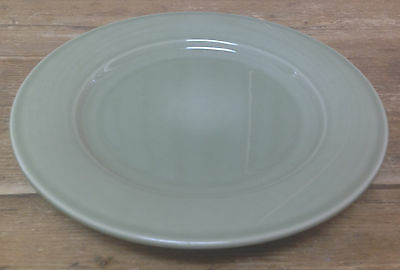 Williams & Sonoma Belvedere Sage Green 1 Dinner Plate Pottery Rim Smooth 11 1/2""