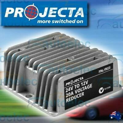 Projecta 20 Amp 24 Volt To 12 Volt 12V Waterproof Voltage Reducer Output Vr020
