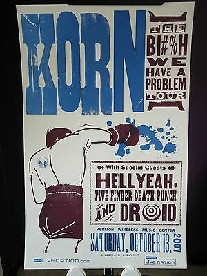 2007 Korn BI#%H We Have A Problem TOUR Verizon Wireless Pelham AL Hatch Poster
