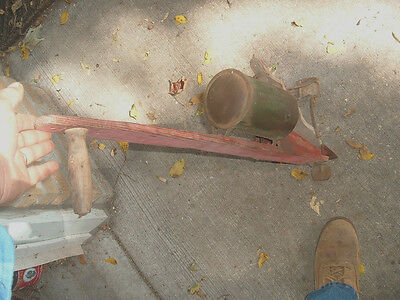 vtg barn find corn seed potato planter w/ cover cap farm tool