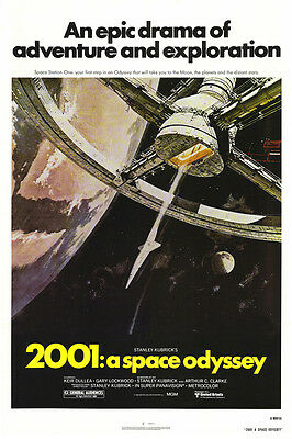 2001: A Space Odyssey Stanley Kubrick Classic Artwork 24x36 Movie Poster