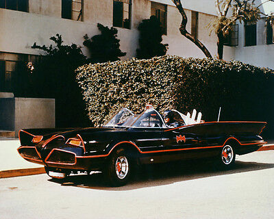 Adam West 24x36 Color Poster great pose sitting in Batmobile