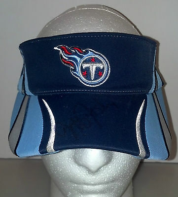 Tennessee Titans Visor Hat Autograph Jeff Fisher