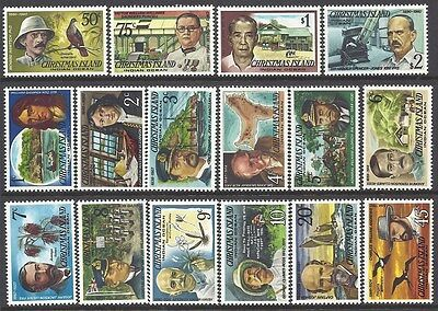 CHRISTMAS IS 1977 FAMOUS VISITORS Explorers many Topics 16v MNH
