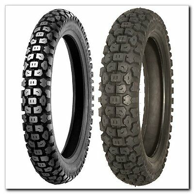 New Dual Sport Motorcycle Front And Rear Tire Set 244 Shinko 2.75-21 4.10-18