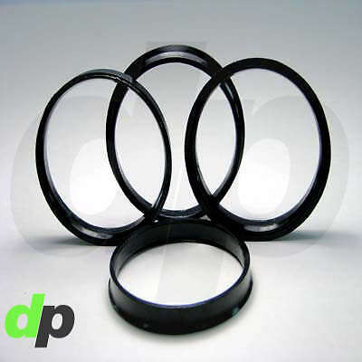 4 Polycarbon Plastics hub centric rings vehicle side 71.5mm to rims side 73mm