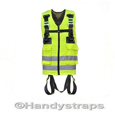 Kratos Full  Body Safety Harness Fluorescent /Yellow HIGH VISIBILITY WORK VEST