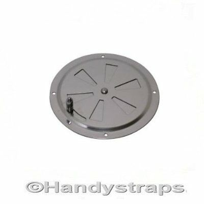 125mm Butterfly Boat Round Louvered Vent Marine Stainless Steel