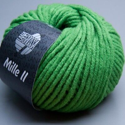 Lana Grossa Mille II 071 classic green 50g Wolle