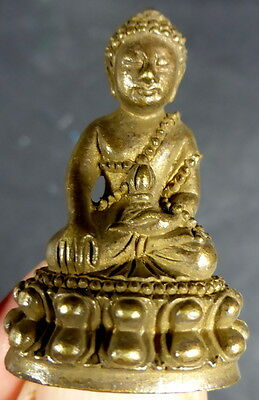 BRONZE MEDICINE BUDDHA STATUE WITH PHA YANT 'TEMPLE CLOTH' from SAMYE MONASTERY