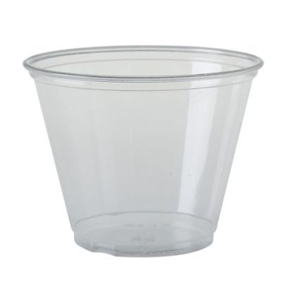 100 x Solo 9oz Clear Tub & Domed Lid With No Hole Sweets Chocolates Cup