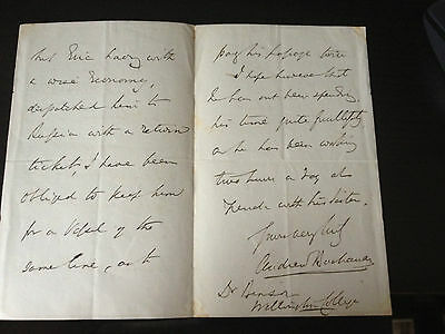 Andrew Buchanan - British Diplomat - Three Page Hand Written & Signed Letter
