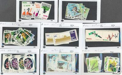 Singapore Lot Of Mint Never  Hinged Sets Duplication
