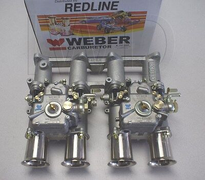 Toyota 2TC Dual 40 DCOE WEBER Side Draft Kit - New - w/Manifold, Linkage & Carbs