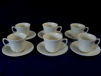 RIDGWAY ENGLAND WHITEHALL CUPS & SAUCERS - SET OF 6 - PERFECT