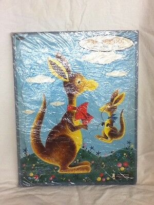 Preowned Vintage 1961 Whitman Pre School Framed Tray Puzzle Complete Kangaroo
