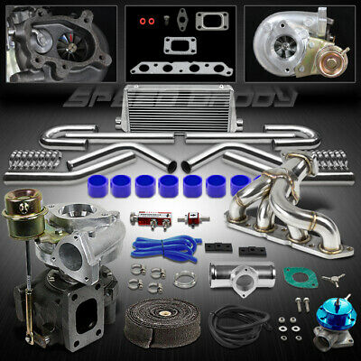 T25 8Pc Turbo Kit+Manifold+Intercooler For 89-93 Celica 88-97 Corolla 4A-Fe