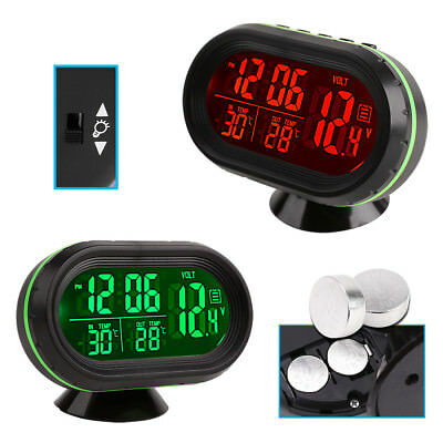 auto kfz digital uhr lcd thermometer hygrometer 12v. Black Bedroom Furniture Sets. Home Design Ideas
