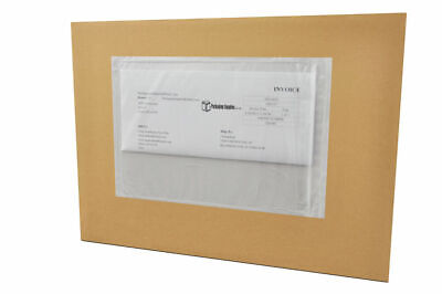 "(1000) 6"" x 9"" Clear Plain Re-Closable Style Packing List Envelopes 1000 /Case"