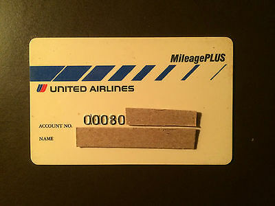 United Airlines 1990's Vintage Collectors Credit Card