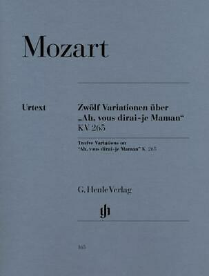 W.A. Mozart: 12 Variations On 'Ah, Vous Dirai-je Maman' K.265 Piano Sheet Music