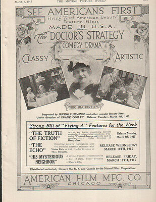 Virginia Kirtley 1915 Ad- The Doctor's Strategy